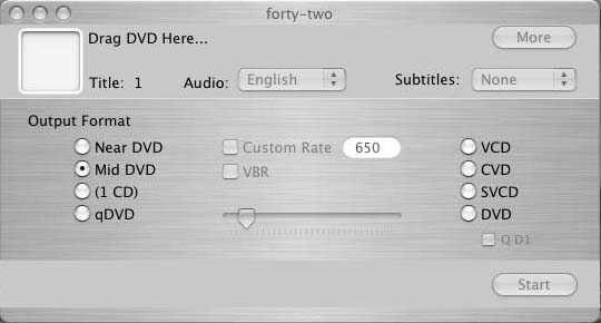 How to use Forty-Two to backup a DVD movie to an AVI based DiVX/3ivx