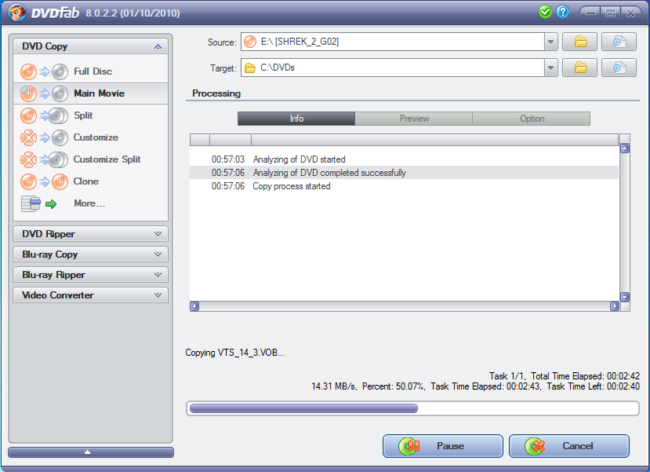 How to rip a DVD to the hard disk using DVDFab HD Decrypter