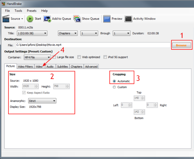 How to rip Blu-ray to MP4 with H264 video using Handbrake