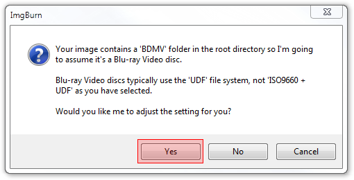 How to burn a Blu-ray or AVCHD video disc using ImgBurn