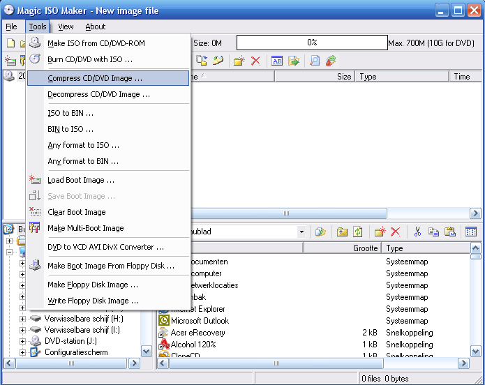 How to compress  ISO files to  UIF files using MagicISO