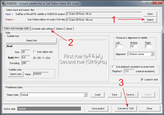 How to add permanent subtitles in a video file now select the output folder that you want to save the new file in 1 if your subtitles are in a different charset than english you will have to open the ccuart Choice Image