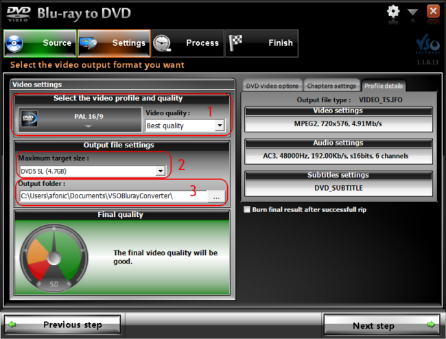 How to convert Blu-ray to DVD using VSO Blu-ray to DVD